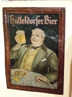 109 Brauerei Hütteldorf, Blech, Abm. 71 cm x 50,5 cm, Impressum: Papier u. Blechdruck Industrie Wien XIX, ca. 1900