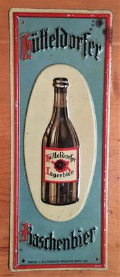 128 Brauerei Hütteldorf, Blech, Abm. 18 x 7 cm, Impressum: Papier u. Blechdruck Industrie Wien XIX, ca. 1910
