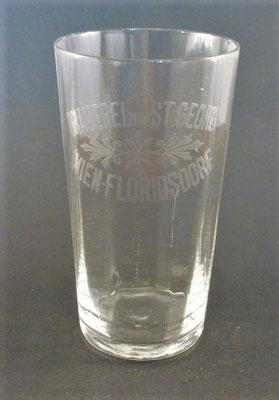 Brauerei zum St. Georg, Wien Floridsdorf, + 1936  (Glas von ca. 1900)