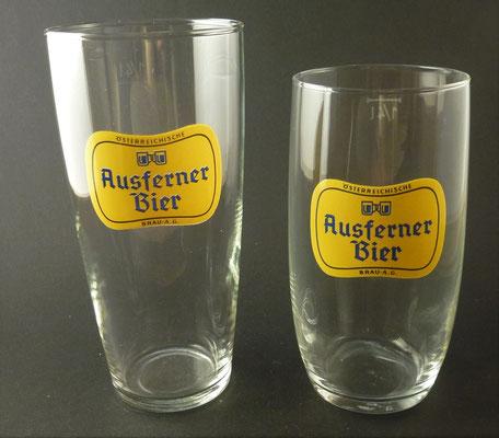 """""""Ausferner Bier"""" , Reutte, Tirol, + 1969 (Glas von ca. 1950/1960)"""