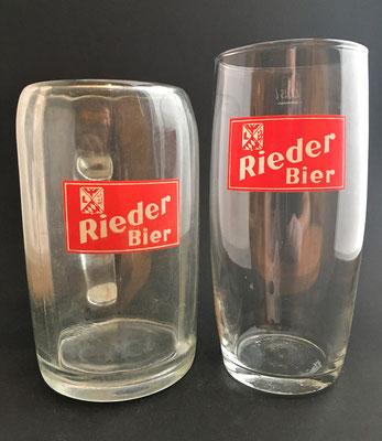 OE112, OE113, Brauerei Ried, OÖ  (Glas von ca. 1960)