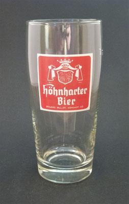 OE043, Brauerei Höhnhart, Bezirk Braunau, OÖ + 1983  (Glas von ca. 1980)