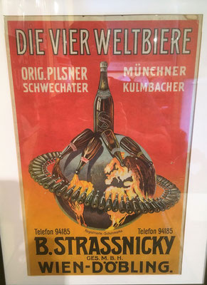 080 Strassnicky Döbling, Abfüller, Pappe, Abm. 45 cm x 29 cm, kein Impressum, ca. 1910
