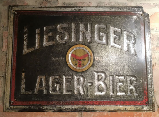 086 Brauerei Liesing, Blech, Abm. 37 cm x 51 cm, Impressum: Papier u. Blechdruck Industrie Wien XIX, ca. 1910