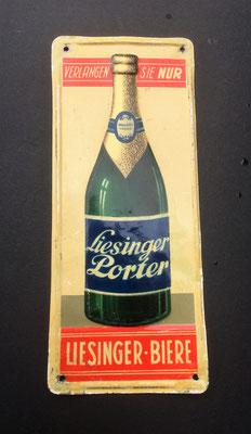 099 Brauerei Liesing, Blech, Abm. 16,5 cmx 7 cm, Impressum: Papier u. Blechdruck Industrie Wien XIX, ca. 1920