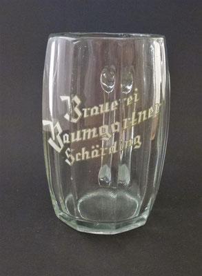 Brauerei Baumgartner, Schärding, OÖ  (Glas von ca. 1930)