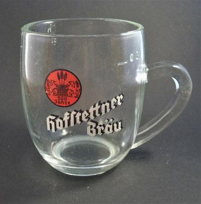 Brauerei Hofstetten, St. Martin i. Mühlkreis, Bezirk Rohrback, OÖ  (Glas von ca. 1950)