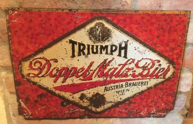 089 Austria Brauerei, Blech, Abm. 34 cm x 38 cm, kein Impressum, ca. 1910