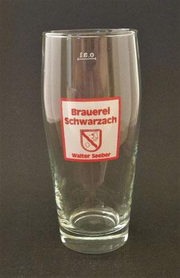 Brauerei Schwarzach, Walter Seeber, Schwarzach im Pongau, + 2008 (Glas von ca. 1960)