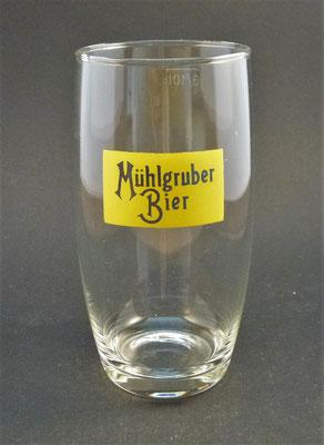 """OE085, Brauerei Mühlgrub, """"Schartner"""" Fein Ges.m.b.H., Bad Hall, Bezirk Steyr Land, OÖ, + 1986  (Glas von ca. 1960)"""