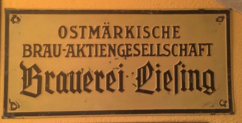 050 Brauerei Liesing, Blech, Abm.  15,5 cm x 32,5 cm, kein Impressum, ca. 1938