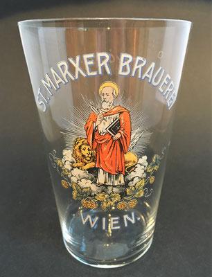Brauerei St. Marx, Wien, + 1913  (Glas von ca. 1900)