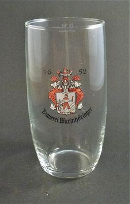 Privatbrauerei Wurmhöringer, Altheim, Bezirk Braunau, OÖ  (Glas von ca. 1960)