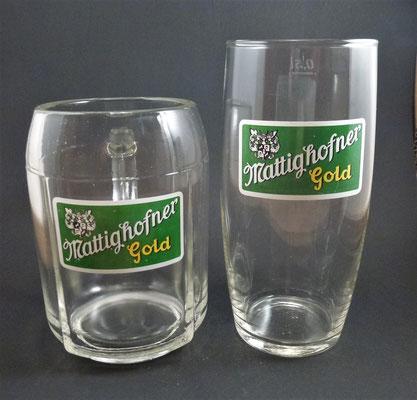 OE070, OE071, Hofbräuhaus Mattighofen, OÖ, + 1975  (Glas von ca. 1960)