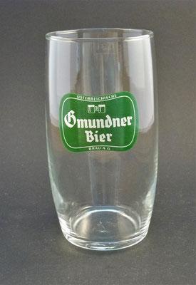Gmundner Brauerei, Gmunden, OÖ, + 1969  (Glas von ca. 1960)