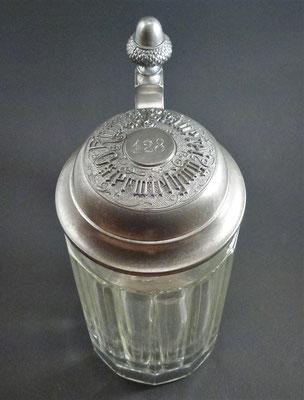OE099, König's Brauerei Ostermiething, Bezirk Braunau, OÖ, + 1917  (Glas von ca. 1900)