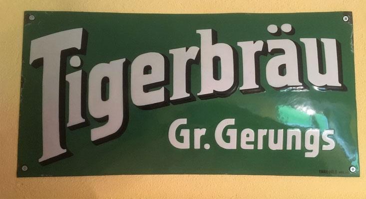 097 Brauerei Groß Gerungs, Email, Abm. 25,cm x 50 cm,  Email-Hölzl, Wien XX, ca. 1930