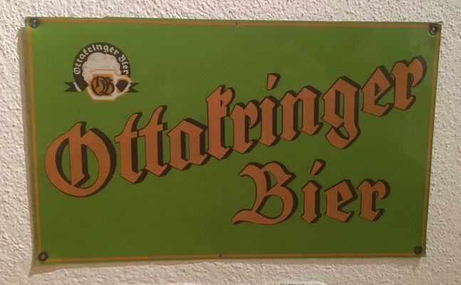 059 Brauerei Ottakring, Blech/Plastik, Abm. 20 cm x 33 cm, kein Impressum, ca. 1950