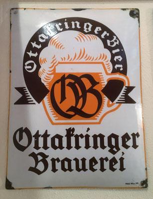 008 Brauerei Ottakring, Email, Abm. 49 cm x 36 cm, Impressum: Hölzl, Wien XX, ca. 1940
