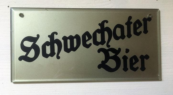 058 Brauerei Schwechat, Glas, Abm. 10 cm x 20 cm, kein Impressum, ca. 1930