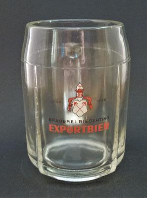 OE116, Schlossbrauerei Riegerting, Mehrnbach, Bezirk Ried, OÖ, + 1985  (Glas von ca. 1960)