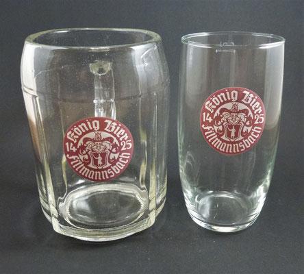 OE019, OE020, Brauerei Fillmannsbach, St. Georgen, Bezirk Braunau, OÖ, + 1969  (Glas von ca. 1950/1960)