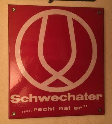 031 Brauerei Schwechat, Email, Abm. 34 cm x 29,5 cm, kein Impressum,  ca. 1970