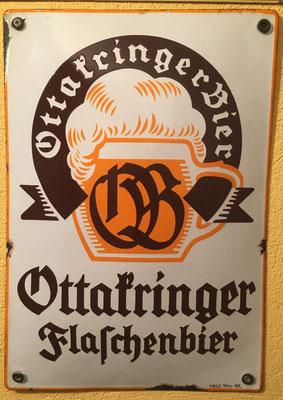 051 Brauerei Ottakring, Email, Abm. 38 cm x 26,50 cm, Impressum: Hölzl, Wien XX, ca. 1940
