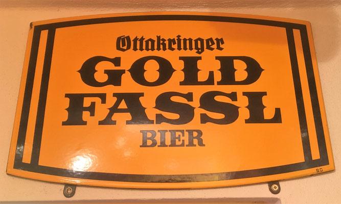 030 Brauerei Ottakring, Email, Abm. 32 cm x 50 cm, Impressum: 80 , ca. 1980