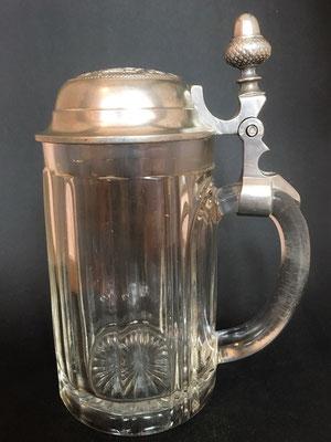 Brauerei Eduard und Maria Strasser ( E.M.St.), Binderbräu Michaelbeuern b. Salzburg, + 1918 ( Glas von ca. 1910 )