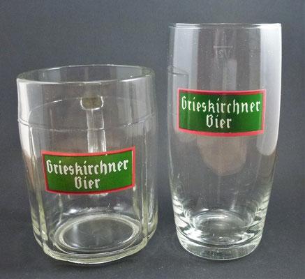 OE033, OE034, Brauerei Grieskirchen, OÖ (Glas von ca. 1950/1960)