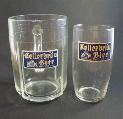 Kellerbräu Ried i. Innkreis, OÖ  (Glas von ca. 1950)