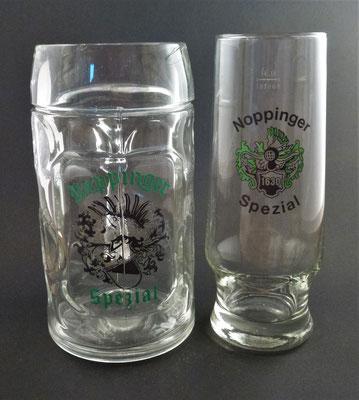 Noppinger Bräu, Oberndorf, SBG, + 1985 (Glas von ca. 1980)