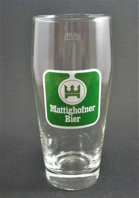 Hofbräuhaus Mattighofen, OÖ, + 1975  (Glas von ca. 1970)