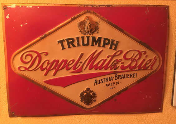069 Austria Brauerei, Blech, Abm. 34 cm  x 48 cm, kein Impressum, ca. 1920