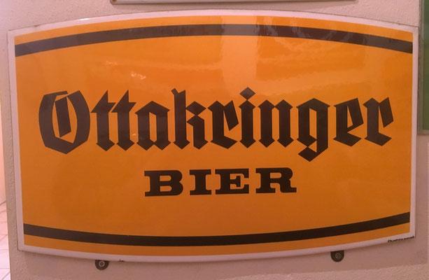 036 Brauerei Ottakring, Email, Abm. 32 cm x 50 cm, Impressum: Austria Email, ca. 1970