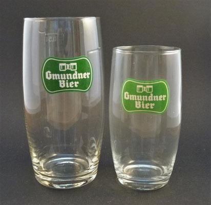 OE027, OE028, Gmundner Brauerei, Gmunden, OÖ, + 1969   (Glas von ca. 1960)