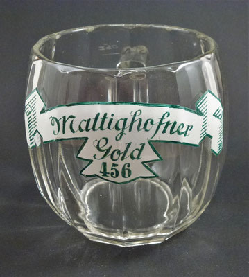 Hofbräuhaus Mattighofen, OÖ, + 1975   (Glas von ca. 1920)