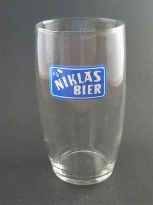 Niklas-Bräu, Brauerei Wesenufer, Waldkirchen am Weser, Bezirk Schärding, OÖ, + 1975  (Glas von ca. 1960)