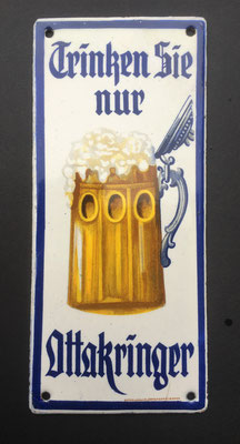 098 Brauerei Ottakring, Email, Abm. 18,5 cm x 8,5 cm, Impressum: Boos & Hahn, Ortenberg-Baden, ca. 1910