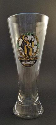 Weißbier-Brauerei Lecchner, Ried, OÖ,  1931  bis 1945  (Glas von ca. 1931)