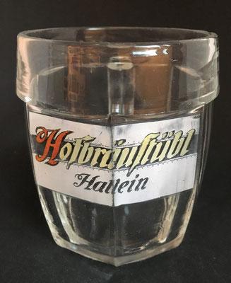 Hofbräustübl Hallein, Brauerei Kaltenhausen, Hallein, SBG, + 2011 (0,5 L Glas von ca. 1930), oberer Markt, später Gasthaus zum Mondschein