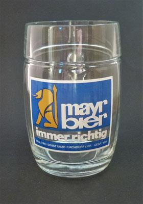 OE083, Brauerei Mayr . Kirchdorf a.d. Krems, OÖ, + 2003  (Glas von ca. 1970)
