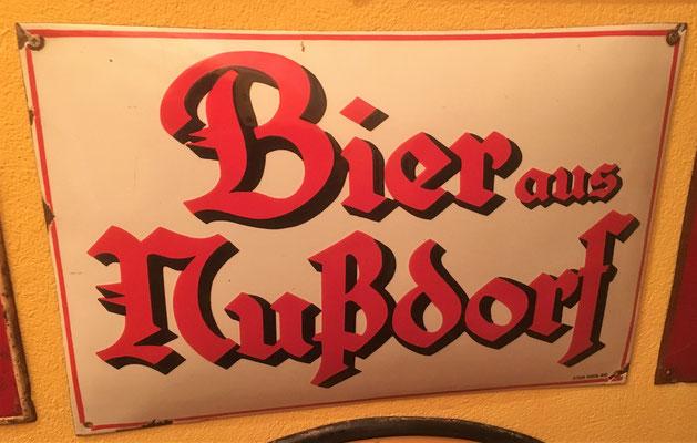 010 Brauerei Nussdorf, Email, Abm. 33 cm x 49,5 cm, Impressum: Steg Wien, XVI, ca. 1920