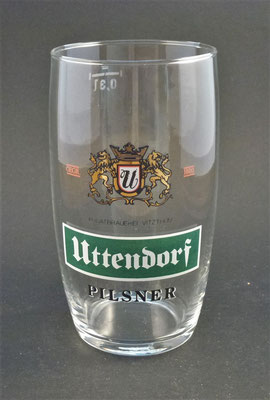 Privatbrauerei Vitzthum, Uttendorf, Bezirk Braunau, OÖ  (Glas von ca. 1980)