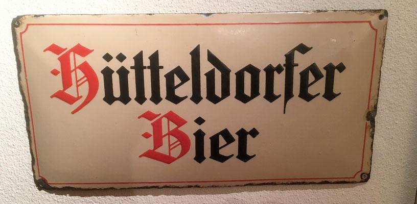 071 Brauerei Hütteldorf, Email, Abm. 24,5 cm x  49,5 cm, kein Impressum, ca. 1920