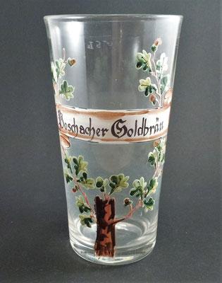 Poschacher Brauerei Linz, OÖ, + 1921  (Glas von ca. 1910)