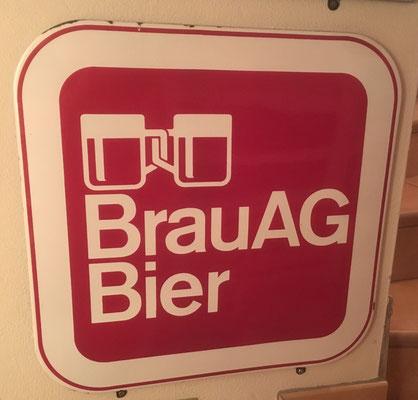 033 Brau AG, Email, Abm. 55 cm x 55 cm, kein Impressum, ca. 1970