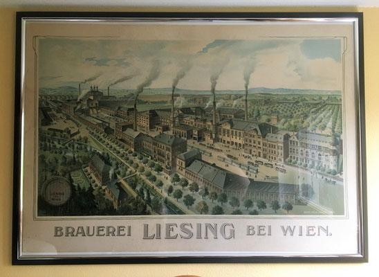 102 Brauerei Liesing, Pappe / Litho, Abm. 68 cm x 99 cm, Impressum: Eckert & Pflug Kunstanstalt Leipzig, ca. 1910