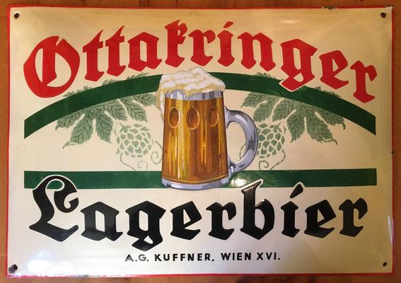 093 Brauerei Ottakring, Email, Abm. 34 cm x 49 cm, kein Impressum, ca. 1920